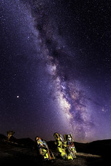 024693763781-105-Milky Way Over the International Car Forest of the Las Church-6 (Jim There's things half in shadow and in light) Tags: 2018 america milkyway mojavedesert nevada september southwest usa carforestofthelastchurch goldfield lightpainting sky stars night car art