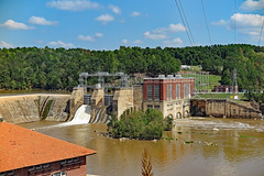 Beautiful Old Hydroelectric Plant Duke Energy on The Wateree River (FAIRFIELDFAMILY) Tags: great falls sc south carolina jason taylor michelle grant carson jail prison old bars duke energy dam hydroelectric plant cedar creek architecture brick rust rusty fairfield county water lake river wateree decay pretty outside nature historic young boy power