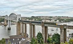 Brunel's Masterpiece (well, one of them!) (Wulfruna Kid) Tags: 57604 pendenniscastle class576 47209 class47rebuild greatwesternrailway brushgm cornwallmainline royalalbertbridge rivertamar saltash 2018