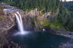 Blue Hour at Snoqualmie Falls (s.d.sea) Tags: snoqualmie falls long exposure waterfall water river pnw pacificnorthwest washington washingtonstate landscape blue hour sunset splash pentax k5iis wide angle 15mm basin
