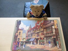 It looks moff eaten! (pefkosmad) Tags: chadvalley gwr greatwesternrailway advertising stratforduponavon harvardhuse scene buildings vintage 1930s jigsaw puzzle hobby leisure pastime incomplete missingpieces street tedricstudmuffin teddy bear ted animal toy cute cuddly plush fluffy soft stuffed