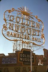 Las Vegas (jericl cat) Tags: lasvegas golden nugget great sign neon bullnose corner rooftop scaffold scaffolding jodimars lee faye maynard nick alexander wade ray 1905 bulb frame luckystrike bingo classic downtown gambling hall 1958 1950s