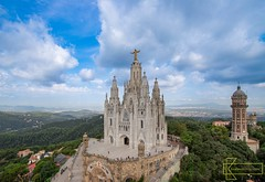 Temple of the Sacred Heart of Jesus (Kostas Trovas) Tags: barcelona church hdr architecture christianism gothic hill hillside jesus landscape medievalart religion sightseeer sky templeofsacredheartofjesus view