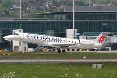 HB-JAT, Zurich, May 16th 2004 (Southsea_Matt) Tags: hbjat swissinternational crossair embraer erj145lu zurich kloten lszh zrh switzerland canon 10d may 2004 spring airplane aeroplane jetplane jet jetliner airliner aviation plane transport regionaljet