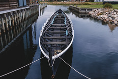 Viking Ship (nachomaans) Tags: fuji xt20 denmark dk viking museum boat vessel wood ship roskilde archaeology boatyard nordic skuldelev scuttle vikingeskibsmuseet shipyard harbour port