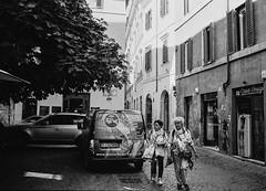 Piazza del Fico, Rione V Ponte, Rome (Postcards from San Francisco) Tags: konicahexaraf eastmanxx rodinal film analog roma italia