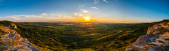 Panorama from Madár-szirt (Charaxes14) Tags: sky lighting shadow wide field widefield scenery landscape light background texture abstract outdoor serene photo border cloud biatorbágy panorama hill hills mountain mountainside mountains hillside grassland grassy grass gorge sunset sun blue clouds view ravine cliff rock