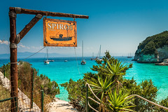 Anyone for lunch? (simonvaux1) Tags: anti paxos greece beaches clear waters stunning holidays sunshine blue skies turquoise white sand warms seas amazing views lush green vegetation fresh fish barbecue boat trips idyllic getaway outdoors swimming diving snorkelling rocks