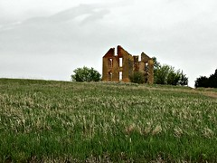 The House On The Hill (pam's pics-) Tags: iphone7 appleiphone field farm rural home homestead stone limestone inthecountry us usa america midwest ks kansas jamestownkansas pamspics pammorris house