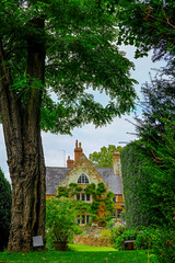 Coton Manor from Woodland Garden (timnutt) Tags: garden xt2 stone northamptonshire tree building house gardens fuji 35f2wr manor midlands 35mm fujifilm cotonmanor