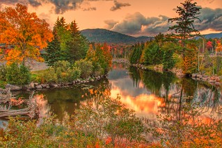 Lake Placid  - New York ~  Autumn Colours in the Adirondack Mountains