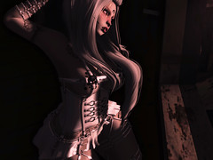 blogpost 28. (ƒєяαℓιαѕ ℓєѕαηαя) Tags: lic taox redhair catwa maitreya dark whitehair goth gothic whitedress latex sl secondlife
