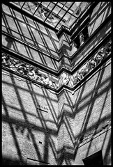 Fenestration light and shadow photographic study (Justin Barrie Kelly) Tags: justinbarriekelly justinkelly justinbkelly jbkelly lightanddark constructivist shadow photography blackandwhite abstract asymmetric justinkellyartist geometric lightandshadow geometrical blackandwhitephotography photograph geometricshapes shadows fujixa1 bw fenestration walls diagonal architecture light frieze neoclassical
