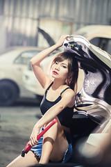 (o7b) Tags: 清冰 清冰幸福小舖 車廠 修車廠 人像 人像外拍