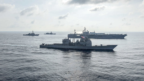 Ronald Reagan Strike Group, Japan Maritime Self-Defense Force conduct bilateral training