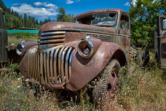 Rusty Chevrolet Truck (BP3811) Tags: 2018 antique august chevy grangeville old pickup rusty trucks abandoned chevrolet dented junk idaho
