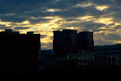 Clouds 2 (TheseusPhoto) Tags: color colorsoftheworld nature naturephotography clouds skyline sun buildings boston city