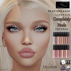 "Stellar Heartbreaker Lipstick ""Completely Nude"" Fatpack (Lexi★Morgan) Tags: stellar leximorgan lipstick lipapplier lipstickapplier appliers makeup heartbreakerlipstick secondlife nudes nudelipstick catwa lelutka omega"