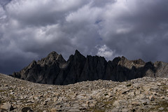 Bishop Pass from the South - explored 09/12/2018 (speedcenter2001) Tags: johnmuirtrail jmt sierranevada sierra sierraphile highsierra california hiking backpacking outdoor wilderness kingscanyonnationalpark kingscanyon mountains backcountry clouds contrast