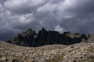 Bishop Pass from the South - explored 09/12/2018