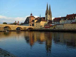 Regensburg from across the Danube