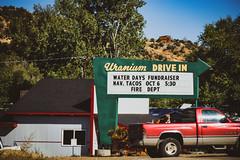 Uranium Drive In - Naturita, Colorado (BeerAndLoathing) Tags: ouraytrip autumn october fallout truck uranium vintage canon fall naturita 2017 roadtrip trips 77d colorado outdoors sign co141 usa dog