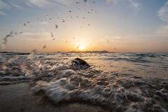 Kos (Photofux) Tags: kos holiday sunset sea water drops waves sun beach urlaub strand meer sonnenuntergang sonne wasser tropfen wellen greece griechenland insel island
