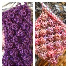Bramble Knit Stitch (Clarice.Asquith) Tags: bramble knit stitch pattern sock yarn doubleknitting textured
