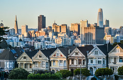 why don't you stop by after work? (pbo31) Tags: bayarea california nikon d810 color september 2018 boury pbo31 summer sanfrancisco skyline salesforce alamosquare paintedladies architecture sunset victorians city urban park transamerican