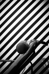 Hatched (iamunclefester) Tags: münchen munich blackandwhite monochrome street night dark hatched chair loungechair headrest lounge lines leather minimal shopwindow genni chaiselonguegenni chaiselongue zanotta