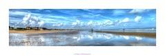 reflet marin (cowsandgirl71) Tags: eau mer cabourg manche calvados ciel reflet bleu sable nuage normandie plage