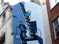 Belgian icons - Tintin and friends (TeaMeister) Tags: brussels belgium interrail europe train seat61 rail bruxelles brussel eu europeanunion brexit travel mannekenpis chocolate chips tintin cartoon