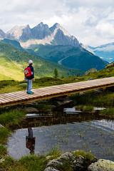 The path (luca_pictures) Tags: dolomiti ragazzo montagne passeggiata outdoor laghetto acquapercorso