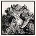 Three slugs on a cabbage by Julie de Graag (1877-1924). Original from the Rijks Museum. Digitally enhanced by rawpixel.
