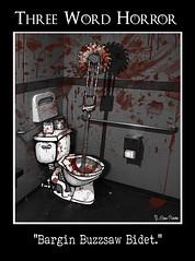 Jigsaw, Eat Your Heart Out (Meme Genie) Tags: comic digitalart horror saw threewordhorror