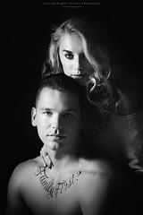 Portrait of a couple (Passie13(Ines van Megen-Thijssen)) Tags: rowen love loveshoot portrait portret couple blackandwhite bw sw zw zwartwit monochroom monochrome monochrom canon netherlands inesvanmegen inesvanmegenthijssen