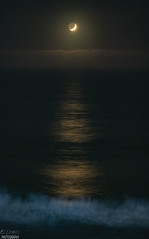 """""""Moon, Waves, And Moonlight sharing with my Love"""" I love to take this momentos that doesnt repeat again... <3 (El Lemus) Tags: moon luna lunas cielo sky night moonlight reflection baja california bajacalifornia san diego ellemus sd beach playa love amour amor jetaime drop drops cloud clouds cloudy earth martin lemus martinlemus inlove falling fall date ocean sea oceano mar pacifico pacific noche nofilter no filter"""