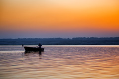 "Sunset On The Ganges River (El-Branden Brazil) Tags: varanasi india indian ganges ganga ceremony hindu hinduism asian asia sacred holy mystical ""south asia"" sadhu"