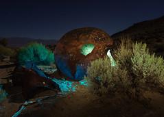Crash Landing (dwblakey) Tags: ufo nightlightpainting aliens mining desert easternsierra bishop history tungstenhills california inyocounty rust junk rusty unitedstates us