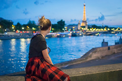 Paris view (sem9077) Tags: europe paris river photography night nice people blue water summer sunset sonya6000 streetphotography street bridge girl colorful colors