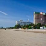 Sunny morning on the beach in Hua Hin, Prachuap Khiri Khan, Thailand thumbnail