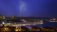 _MG_4015 (rebordou) Tags: fene ferrol galicia tormenta raio ray storm nightly lighting ocean bridge aspías