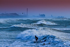 Surfing in the rough sea - Tel-Aviv beach - Follow me on Instagram:  @lior_leibler22 (Lior. L) Tags: surfingintheroughseatelavivbeach surfing roughsea telaviv beach surfer surfers telavivbeach israel