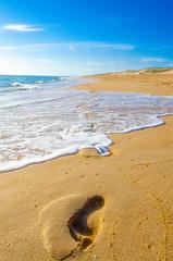 Footprints on the sand.. (Dregster) Tags: sand beach blue praia areia footprint algarve algarvephotos pordosol photos photo photography portugal waves wave shore scene scenery ondas cena cenario wallpaper anunes andrénunes andrenunesfotografia costa anawesomeshot