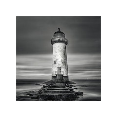 Talacre Lighthouse (Dave Slinn) Tags: lighthouse talacre pointofayr wales welshcoast northwales sea coast longexposure blackandwhite mono ndfilter