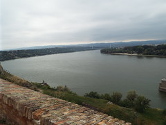 Petrovaradin Fortress, Novi Sad, Serbia (sean and nina) Tags: petrovaradin fortress novi sad serbia srbija europe european balkan balkans ancient old historic fort castle walls ramparts fortifications defence green grass trees bridges tunnels river danube water memoprials statues people persons outdoor outside candid serb view panorama buildings architecture war conflict path pathways stairs elevations art artwork visitors tourism tourist attraction