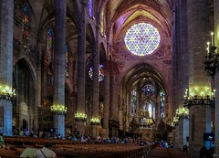 Rose Window (haberlea) Tags: cruise palma palmacathedral interior cathedral church gothic architecture round rose rosewindow nave medieval majorca middleages