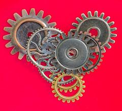 Macro Mondays-Cogwheel (Maureen Medina) Tags: macro mondays cogwheel maureenmedina artizenimages heart wheel letmerollittoyou macromondays