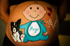Belly painting (XIKOMDV) Tags: belly painting hugo bebe dog perro border collie