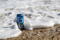 Adnams Ghost Ship can on Southwold beach (Adnams) Tags: adnamsghostship ghostship beer adnams southwold beach northsea sea splash